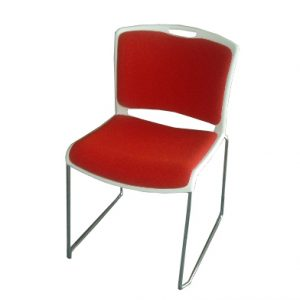 Pixar Visitor Chair - White - Red Pads