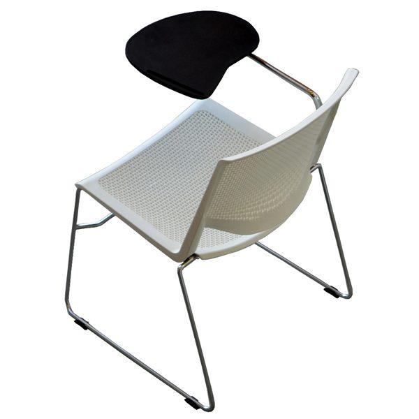 Soni Chair - White - Tablet Arm