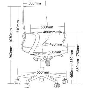 Lala Task Chair Dimensions