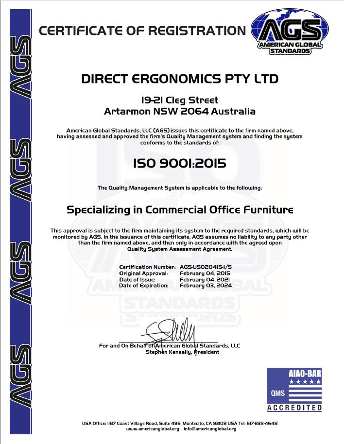 Certificate AFRDI Cert 15571/1