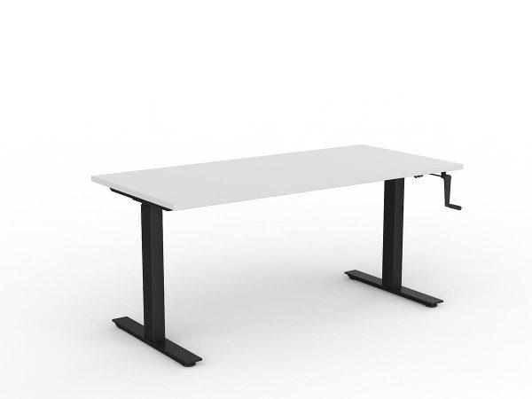 Workzone Straight Desk - White Top/ Black Frame