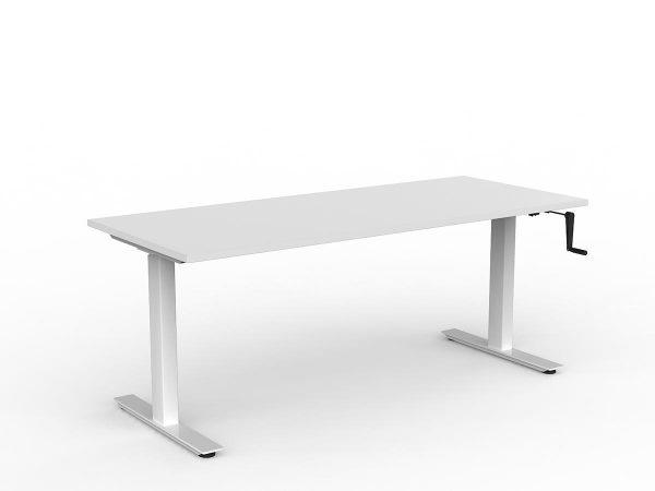 Workzone Straight Desk - White Top/ White Frame