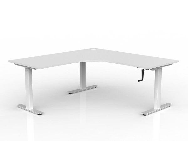 Workzone 90 Degree Desk - White Top/ White Frame